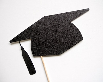 Glitter Graduation Hat Photo Booth Prop . Graduation Photo Booth Prop . Graduation . 2014 . Class of 2014 . Glitter . Single