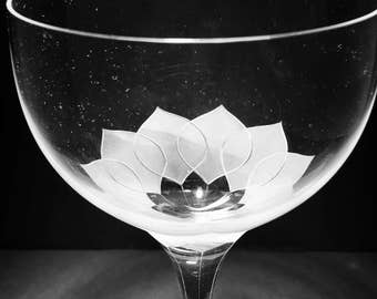 "4 ROSENTHAL Crystal Cordial Glasses ""LOTUS BLOSSON"""
