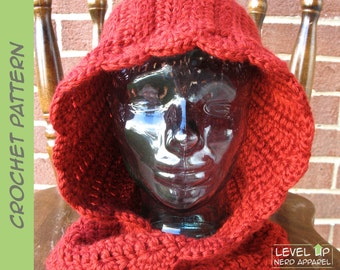 Red Riding Hood cowl CROCHET PATTERN || Child, Adult || Instant Download