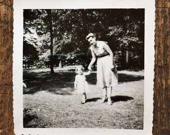 Original Vintage Photograph | Walking with Mother