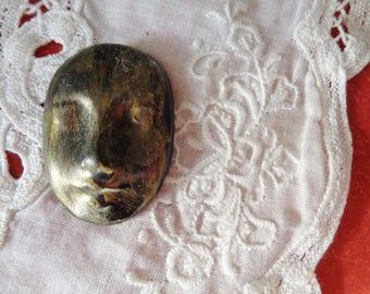 Black/gold ceramic cabochon, cabochon face paste
