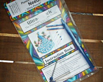 Ultra Punch Needle Embroidery Set 3 Needles Threaders