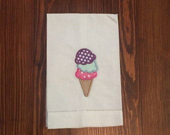 Summer Ice Cream Tea Towel