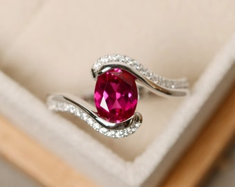 Ruby ring, oval cut, gemstone ring ruby, oval cut ruby ring