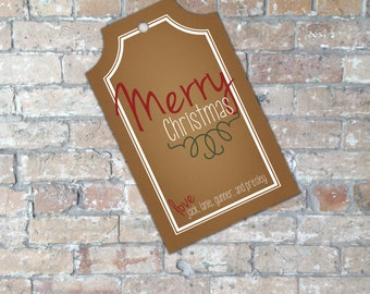Rustic Christmas Gift Tag {Digital Item}