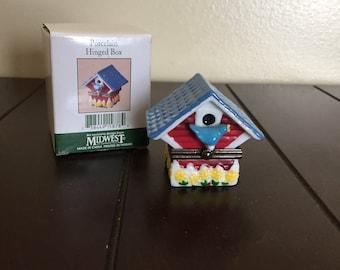 Birdhouse Porcelain Hinged Box