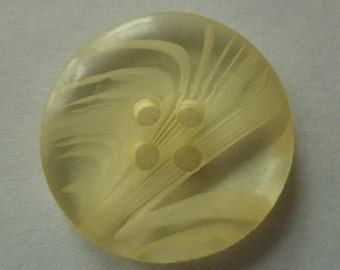 10 buttons yellow 23mm (6387) button
