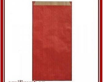 lot 25 pouches bags bags envelopes kraft 7 x 12 red