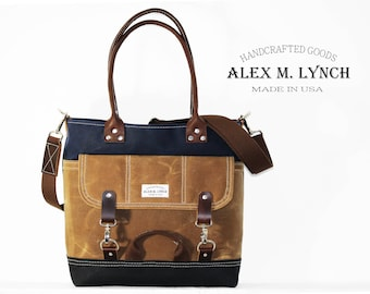 heavy waxed canvas everyday tote - made in USA 010066