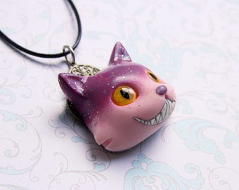 Cheshire cat Alice in wonderland Pendant, necklace, jewelry