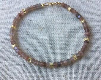 Moonstone Beaded Bracelet
