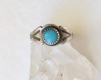 vintage Bell Trading Post turquoise ring, size 3