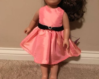 "18"" Doll Peach Party Dress"