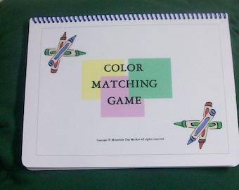 Autism Pecs Matching Colors File Folder Game