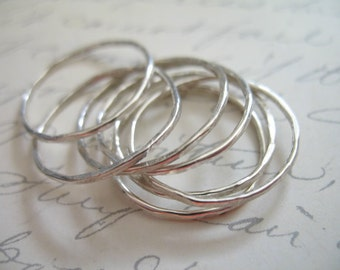 Shop SALE... 5 rings, Knuckle Ring, Stack Ring, Midi Ring, Midi Stack Ring, Above Knuckle Ring, Sterling Silver, minimal simple, sr1-5