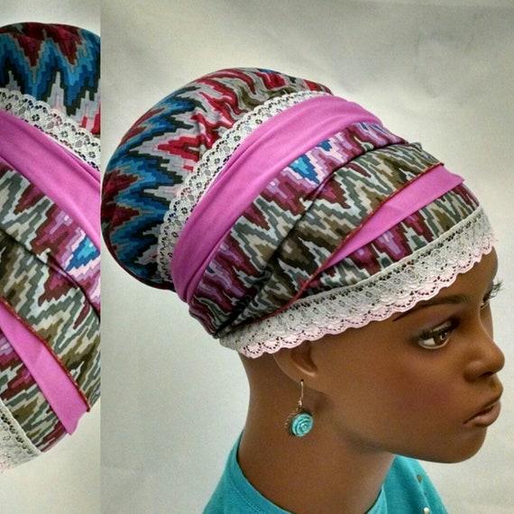 Exquisite colorful chevron sinar tichel, tichels, chemo scarves, head scarves