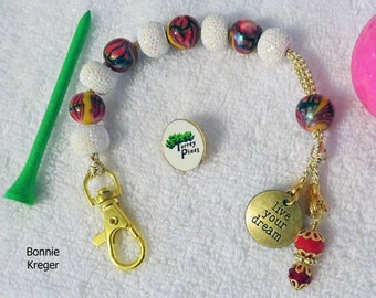 Golf Stroke Counter with Handmade Beads