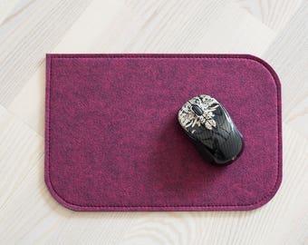 Felt mousepad, fuchsia 4mm