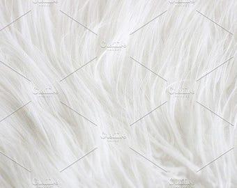Styled Stock Photo | White Faux Fur | Blog stock photo, stock image, stock photography, blog photography