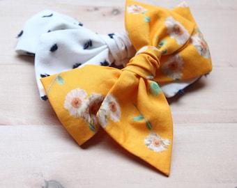 Large Pinwheel set of 2 || Ava & Sunny bow || alligator clip or nylon headband