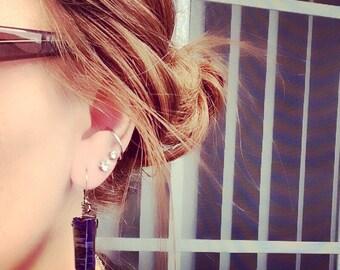 PRAGUE   rainbow titanium quartz earrings