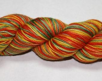 Ready to Ship - Great Pumpkin Self Striping Hand Dyed Sock Yarn - Sport Sock