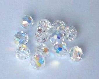 SWAROVSKI Beads 5000 Round CRYSTAL AB