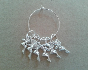 WoollyKits Fairy Stitch Markers (Pack of 6 Charms) for Knitting/Crochet