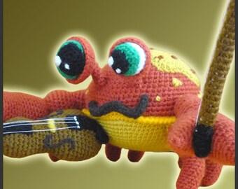 Amigurumi Pattern Crochet Niccolo Fiddler Crab DIY Digital Download PDF