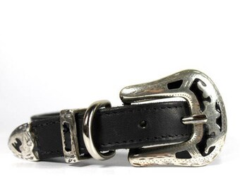 Dutchiz leather dog collar Ibiza Pampas