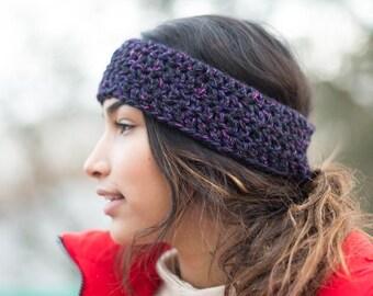 Purple Wool & Acrylic Head Wrap