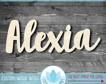 Large Wooden Name, Laser Cut Wood Words, Custom Nursery Decor, Gallery Wall Words, Personalized Name Wall Decor, Custom Word Party Decor