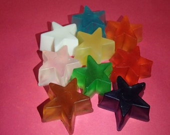3 Small Star Glycerin Soaps