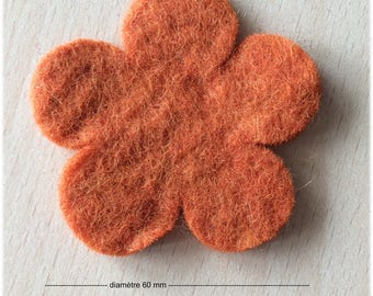 pretty little felt 60 mm apricot flower