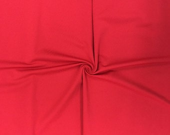 "Red Stretch Fabric SALE 4 Way Lycra Knit Jersey By the Yard 60"" Wide"