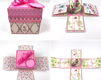"""3.5""""x3.5"""" Handmade personalized Explosion Box Popup Card for Any Occasions - MADE TO ORDER"""