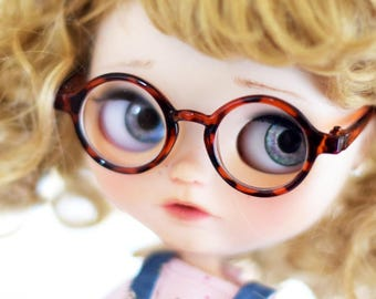 Beautiful retro Brown leopard glasses for Blythe and Neo Blythe Custom