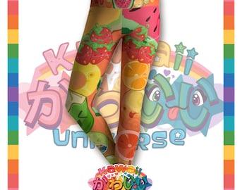 Univers kawaii - mignon classique Fruits groupe créateur collants / Leggings