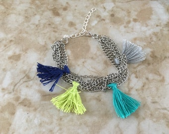 Chain and Tassel Diffuser Bracelet for Essential Oils