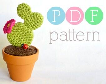 Amigurumi Cactus - Crochet Prickly Pear PDF Pattern