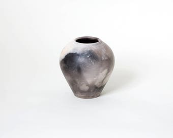 Gray vintage vase, Unique gray vase, Ash gray vase, Danish gray vase, Home decor vase, Studio pottery vase, Scandinavian