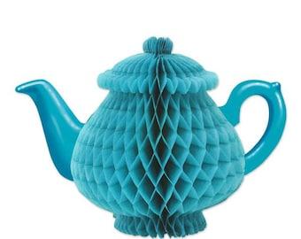 Alice in Wonderland Teapot centerpiece. 7 inches Tea Party
