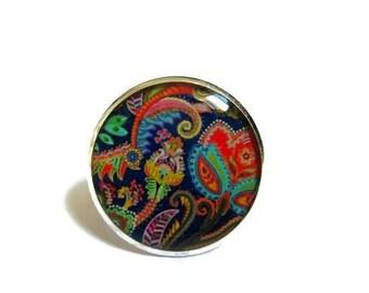 TRIBAL JEWELRY- Girlfriend Gift idea - Boho Ring - Romantic Jewelry - Dark blue - Colorful  jewelry