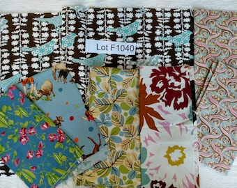 RARE Moda Fabric DESTASH LOT F1040 First 2 Images only. Hard to Find Quilting Cotton Nearly 2 yards Erin Michael Up Town, Freebird Momo...