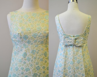 1960s Brocade Column Dress
