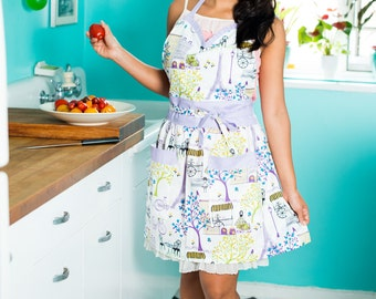 French Lavender Full Sweetheart Apron