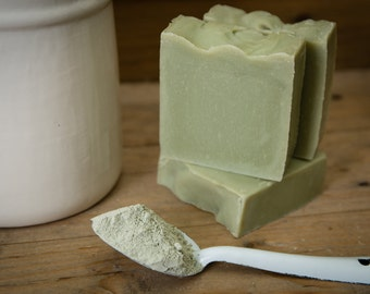 Tea Tree & Green Clay Handmade Soap - Certified 100% Natural Pure Vegan Handmade Soap (Cold Process)