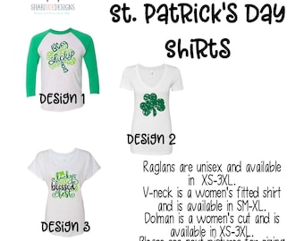 Women's St. Patrick's Day Shirts, st. patrick's day raglan, st. patrick's day tee, t-shirt st. patricks day, holiday shirts