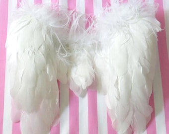 White angel baby toddler wings