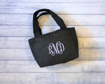 Personalized Lunch Tote - Black